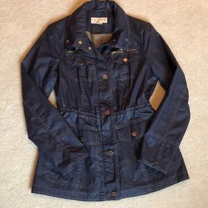Michael Kors Navy Blue Utility Anorak Jacket